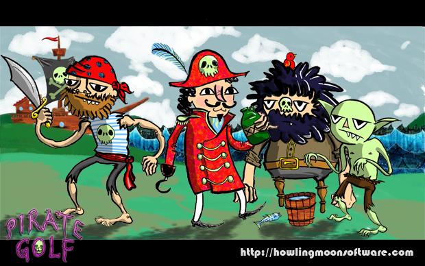 Pirate Golf Desktop Background